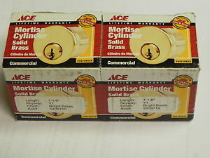 qty 14 2 pack Ace Mortise Cylinder 1 1 8 Y1 Bright Brass 5406715