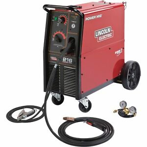 Free Shipping lincoln Power Mig 216 Welder 230v 216 Amps k2816 2