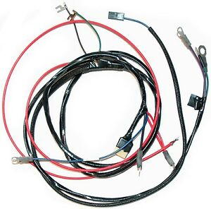 1958 62 Corvette Engine Wiring Harness New Reproduction Man Transmission Only