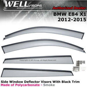 Wellvisors Window Visors For Bmw X1 12 15 E84 Side Clip On Window Visors