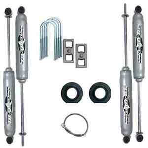 Rubicon Express Re6165 2 In Economy Lift Kit W Blocks U Bolts Shocks For Jeep