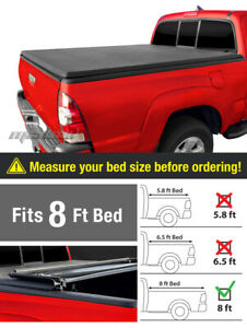 Premium Tri Fold Tonneau Cover For 1988 2007 Silverado Sierra 8ft 96in Bed