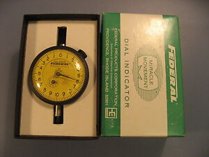 Federal Gage Q21 Dial Indicator Gauge 002 Mm With Box
