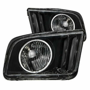 Anzo 121033 Set Of 2 Black Ccfl Halo Projector Headlights For 05 09 Ford Mustang