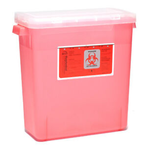 Sharps Container Biohazard Needle Disposal 3 Gallon