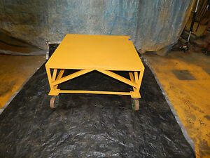 Raised Steel Industrial Cart 42 x42 Approximately 1000 Pound Capacity