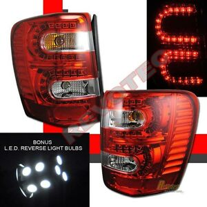 99 00 01 02 03 04 Jeep Grand Cherokee Red Led Tail Lights W Led Reverse