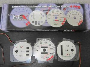 92 93 94 95 Honda Civic Dx At Automatic 140 Mph White Face Indiglo Glow Gauges