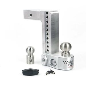 Weigh Safe Ws10 2 5 Adjustable 10 Drop Hitch Ball Mount W Tongue Weight Scale