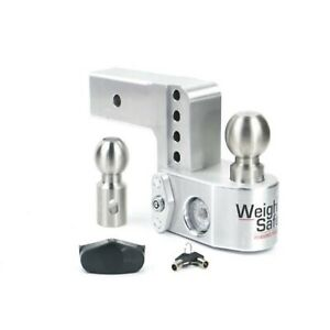 Weigh Safe Ws4 2 5 Adjustable 4 Drop Hitch Ball Mount W Tongue Weight Scale