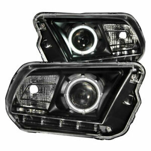 Anzo 121323 Set Of 2 Black Ccfl Halo Projector Headlights For Ford Mustang