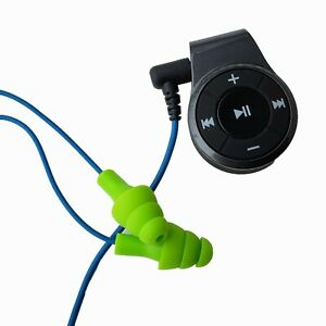 Bluetooth Workinbuds Green blue Earplug Earphones With Jabees Bluetooth Adapter
