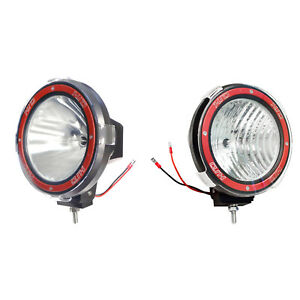 Pair 7 Inches 4x4 Off Road 6000k 55w Xenon Hid Fog Lamp Light Flood Spot 2pcs