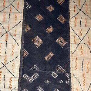 Long Antique Kuba Cloth Raffia Textile Traditional African Tribal Money Congo