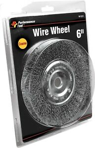Performance 6 Coarse Flat Wire Wheel With 5 8 Arbor For Bench Grinder W1221