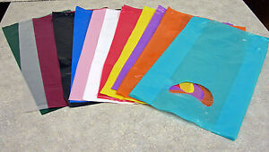 Small 7 x3 x12 Plastic Merchandise Shopping Bags You Pick Color Lot Qty