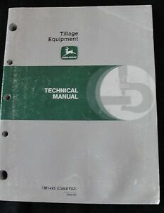 John Deere 610 2810 3710 Plow 885 960 1060 Cultivator 630 635 Disk Repair Manual
