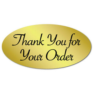 thank You For Your Order Oval Stickers 2 X 1 Roll Of 500 Seals