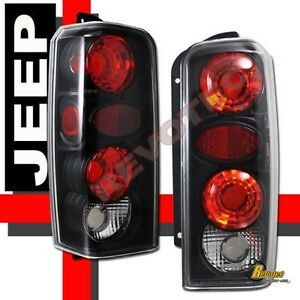 97 01 Jeep Cherokee Black Tail Lights Lamps 1 Pair 98 99 00