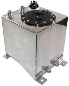 New 2 1 2 Gallon Street strip Aluminum Fuel Cell With Safety Foam Gas Tank