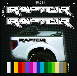 Pair Ford Raptor Truck Side Bed Lettering Vinyl Decals Stickers Fits 2010 2014