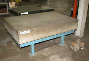 48 X 72 Grey Granite Surface Plate With Stand 4 X 6