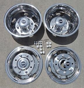 Ford F450 F550 19 5 2003 2004 Stainless Dually Wheel Simulators