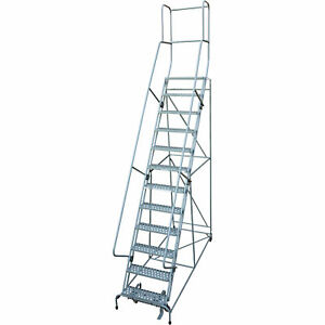 Cotterman Rolling Steel Ladder 450lb Cap 12 step Ladder 120in Platform