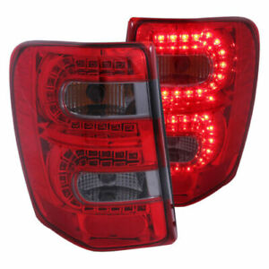 Anzo 311180 Red Smoke Lens Led Bulb Tail Lights For 99 04 Jeep Grand Cherokee