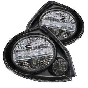 Anzo 221097 Black Clear Lens Halogen Red White Tail Lights For 00 03 Maxima