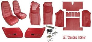 1977 Corvette Interior Package Carpet Seat Covers And Kit Door Panels