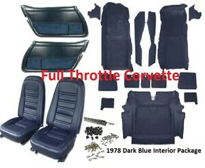 1978 Corvette Interior Package Includes Carpet Door Panels Seat Covers