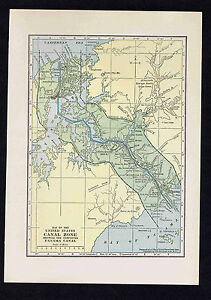 Us Canal Zone 1929 Map Print