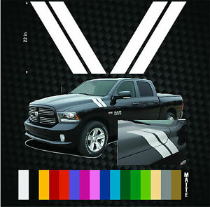 09 2010 2011 2012 2013 Pair Dodge Ram Fender Hood Hash Tag Mark Stripe Stripes