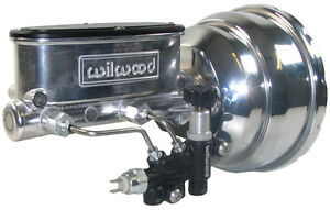 New Power Brake Booster Wilwood Polished Master Cylinder Valve 55 64 Chevy