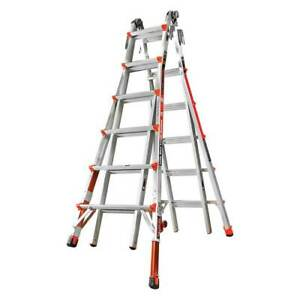 Little Giant 12026 801 Revolution 4 In 1 Ladder M27 Ia 300lbs Capacity Levelers