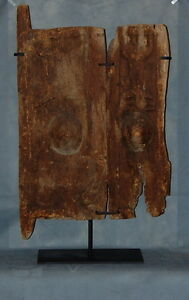 African Art Carved Wood Fertility Reptile Dogon Granary Door