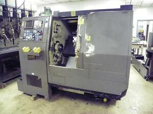 Hardinge Conquest 42 Cnc Turning Center Fanuc Control Chip Conveyor
