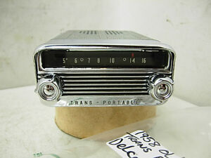 1958 Oldsmobile Trans Portable Delco Am Radio With Knobs 58 Olds Trans portable