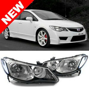 06 11 Honda Civic 4dr Sedan Helix Depo Jdm Conversion Headlights Chrome