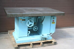Shaper Tilting Spindle Large Table Orton 40 X 60 7 5 Hp Tested