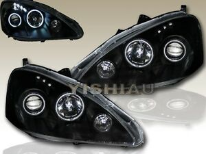 Fit For 2005 2006 Acura Rsx Halo Projector Headlight Black New