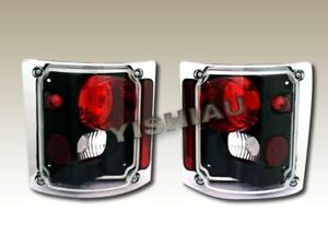 1973 1991 Gmc C k C10 Suburban blazer Fullsize Black Tail Lights 88 85 90 75