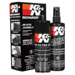 K N 99 5000 Air Filter Cleaner Oil Recharger Cleaning Kit Red
