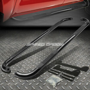 For 02 09 Dodge Ram 1500 3500 Quad Cab Black 3 Side Step Nerf Bar Running Board