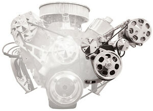 Billet Specialties Air Conditioner Pulley bracket Add on To Bbc Conversion Kits