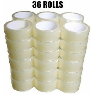 New 2 Inch Premium Packing Tape 36 Rolls Of Clear Tape 2 110 Yards 330ft