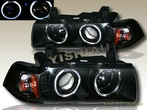1992 1998 Bmw E36 3 Series 2 Door Coupe Two Halo Projector Black Headlights