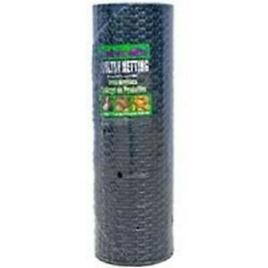 New Jackson Wire 60 x150 Ft 1 Black Vinyl Chicken Poultry Netting Wire 6035141