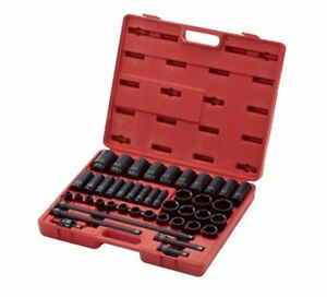 Sunex 2568 43 Pc Complete Sae 1 2 Impact Socket Set 3 8 To 1 1 2